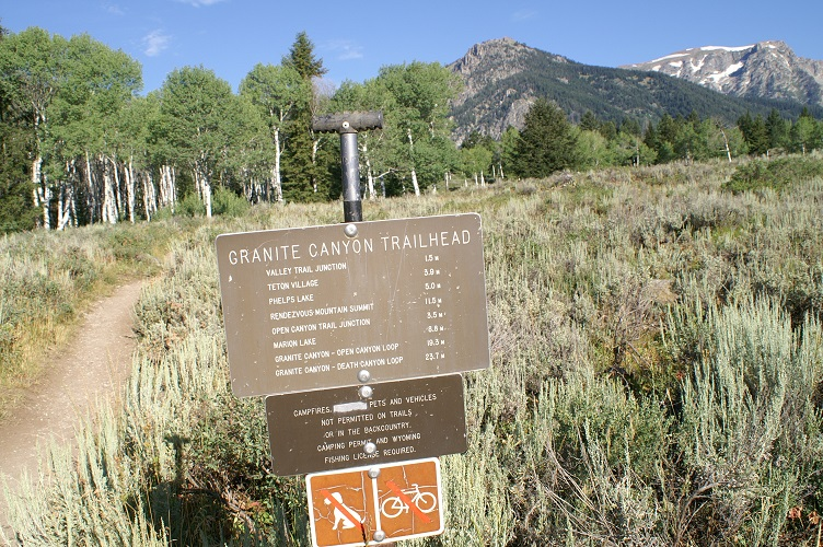 Grand Teton National Park - Granite Canyon Trailhead
