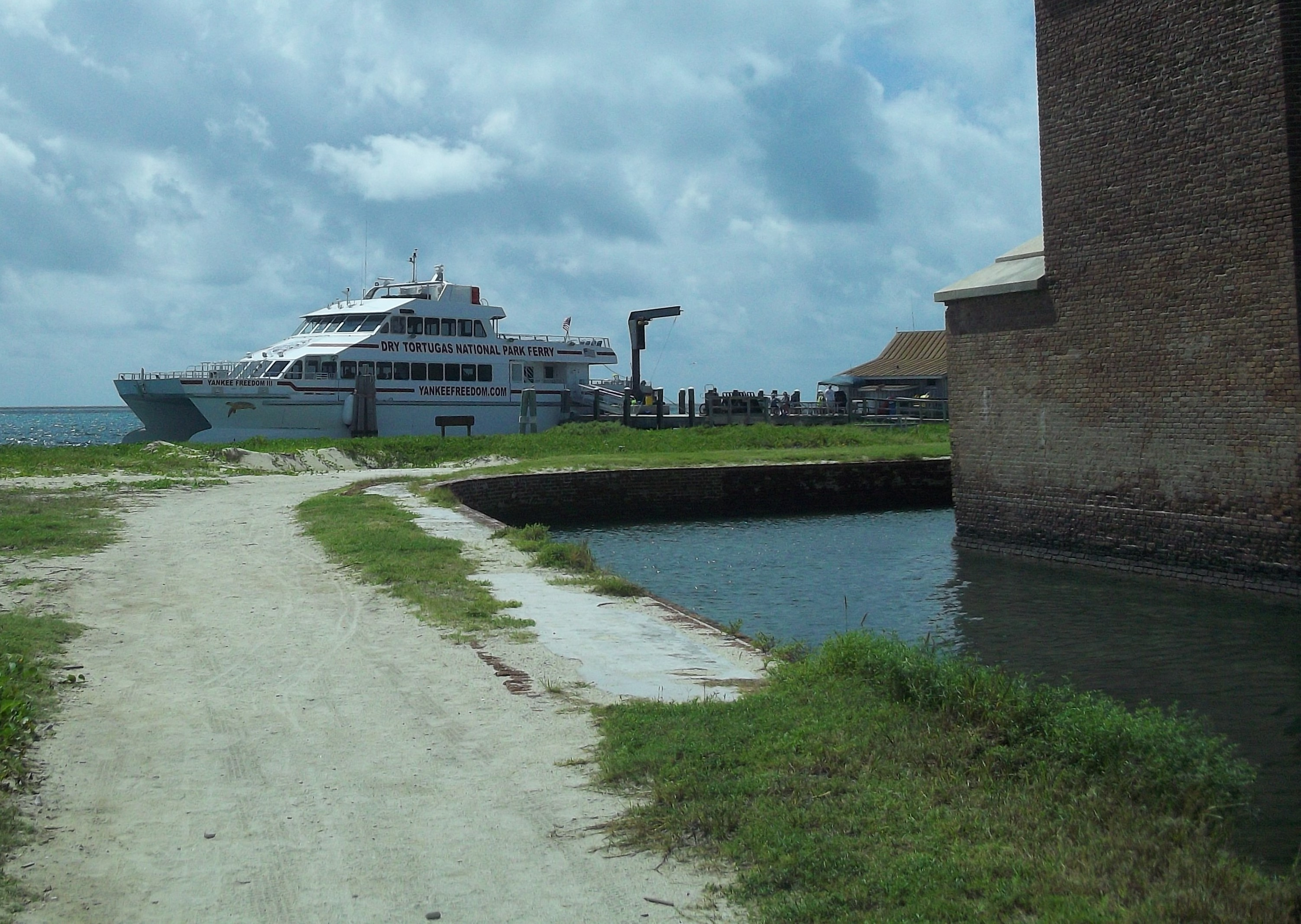 ... beach fronts the south wall of Fort Jefferson in the Dry Tortugas, NP