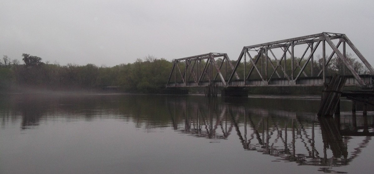Abandoned Railroad Bridge over the Altamaha River at Altamaha Regional Park