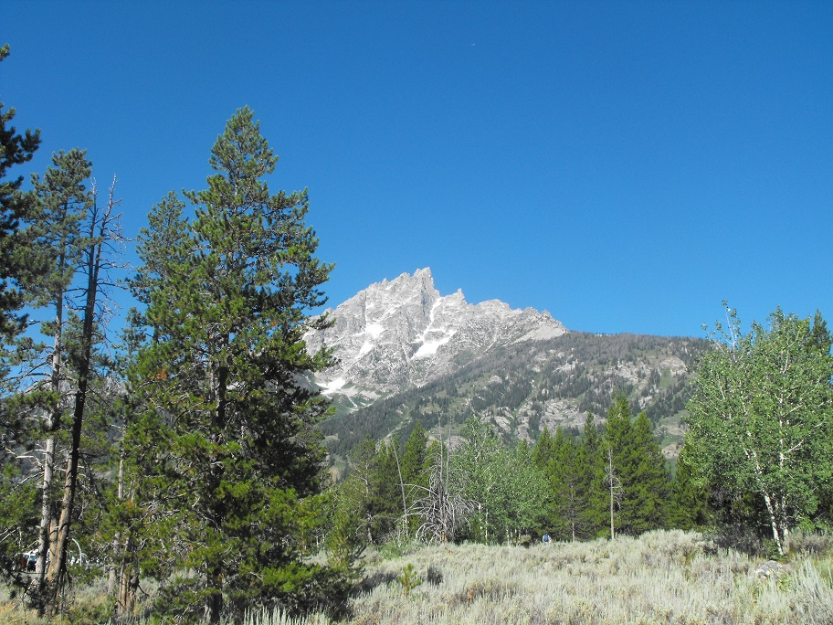 Grand Teton Granite Canyon Near Trailhead