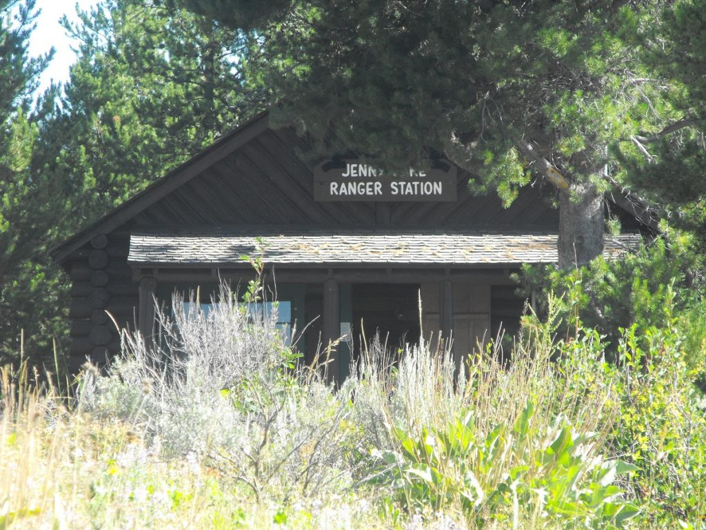 The Jenny Lake Ranger Station near the Jenny Lake Welcome Center.